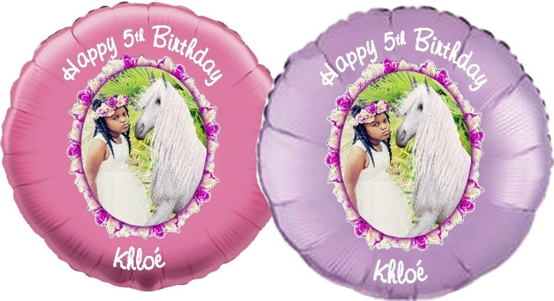 Two Personalized Color Balloons Pictures On Custom