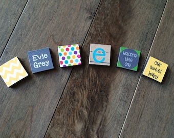 New baby customized magnets - baby shower gift - pregnancy gift