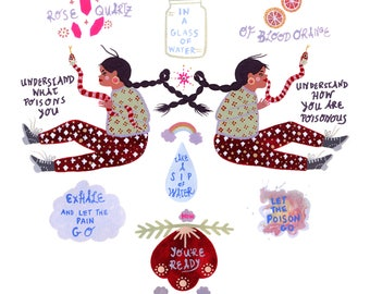 Resist Spread Love Self Care Spell Bruja Witchcraft Print