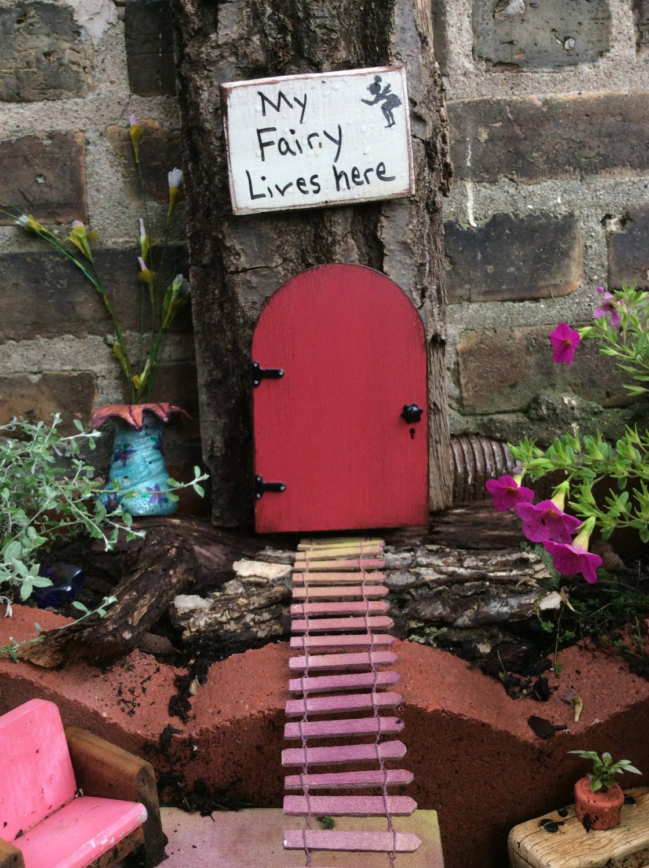 Fairy Garden Red Fairy Door Garden Decor Garden Birthday Party