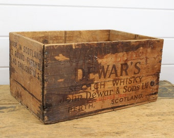 Vintage Wooden Crate Etsy