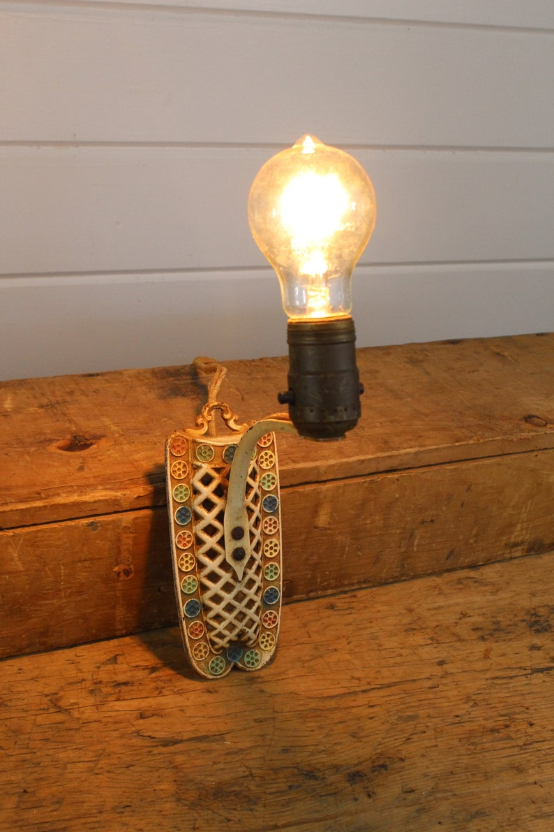 Super 1920S Hanging Vintage Metal Sconce Plug In Light Fixture Rusty Etsy Wiring Digital Resources Ntnesshebarightsorg