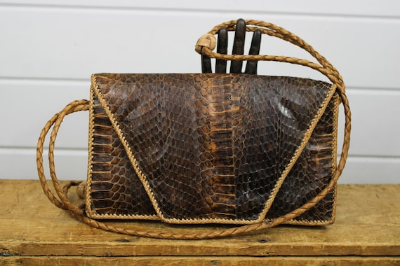 Vintage Snakeskin Leather Purse