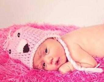 Crochet Flamingo Hat, Crochet Hat Pattern, Hat Crochet Pattern, Flamingo Crochet Pattern, Flamingo Costume, Baby Hat, Baby Crochet Hat