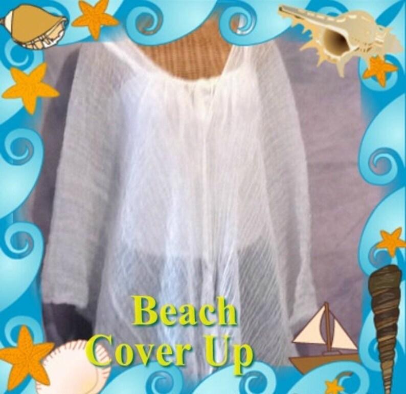 Womens White 7x Short Petite One Size Muumuu Full Figure 8x Cover Up Coverup 6x Oversized Cotton Plus Size Tunic Caftan