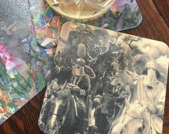 Mardi Gras Parade Paper Coasters - Sepia Tone Coasters - Home Entertaining - theRDBcollection