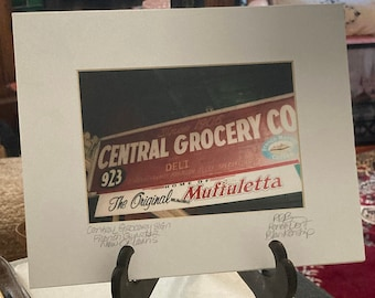 Central Grocery Original Sign Matted Photo