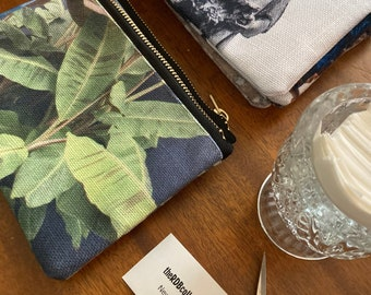 Banana Leaves Zippered Pouch