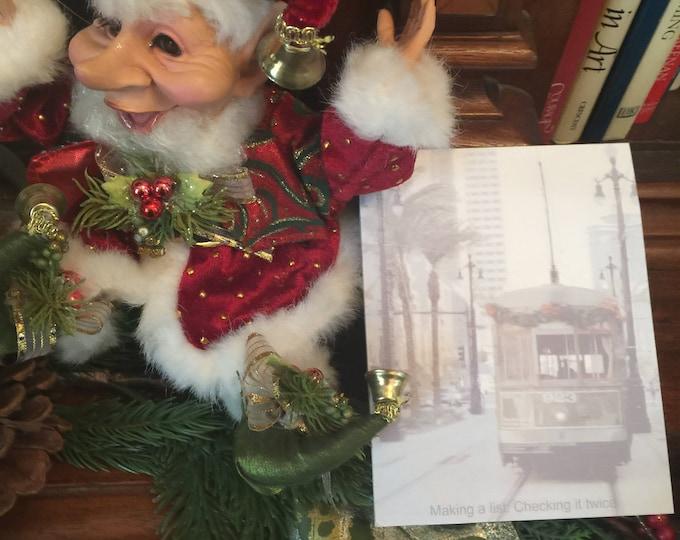 Christmas Streetcar Notepad