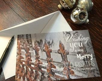 Fleur de Lys Very Merry Christmas Greeting Cards