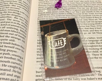 Cafe Coffee Cup Bookmark