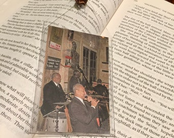 Preservation Hall Musicians Bookmark - Jazz Band Bookmark - Pres Hall Stage - New Orleans French Quarter - Music Lover - theRDBcollection
