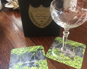 Ironwork Among the Hedges Paper Coasters