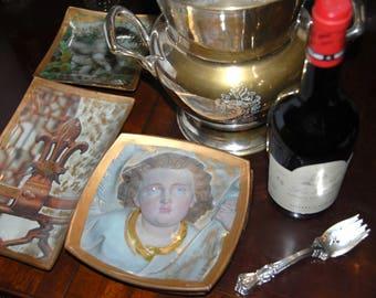Angel Art Glass Plate