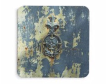 Aged Medallion in Blue Coasters