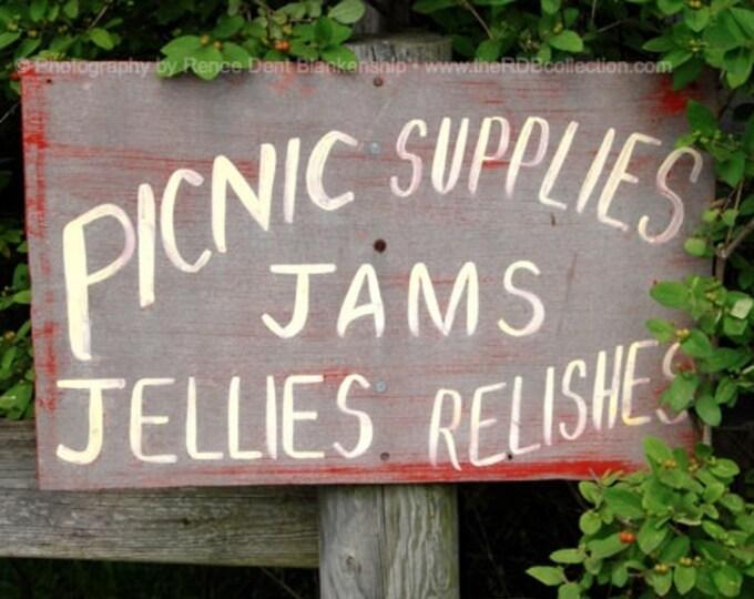 Jams & Jellies Sign Photograph