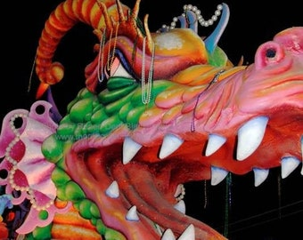 Dragon Photograph - Mardi Gras - Carnival Print - New Orleans Art - theRDBcollection - Renee Dent Blankenship