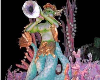 Triton Blows His Horn Photo - Mardi Gras