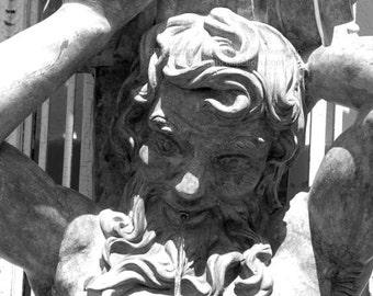 Proteus Garden Statue Photograph