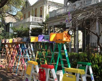 Mardi Gras Ladders Photo - New Orleans Carnival