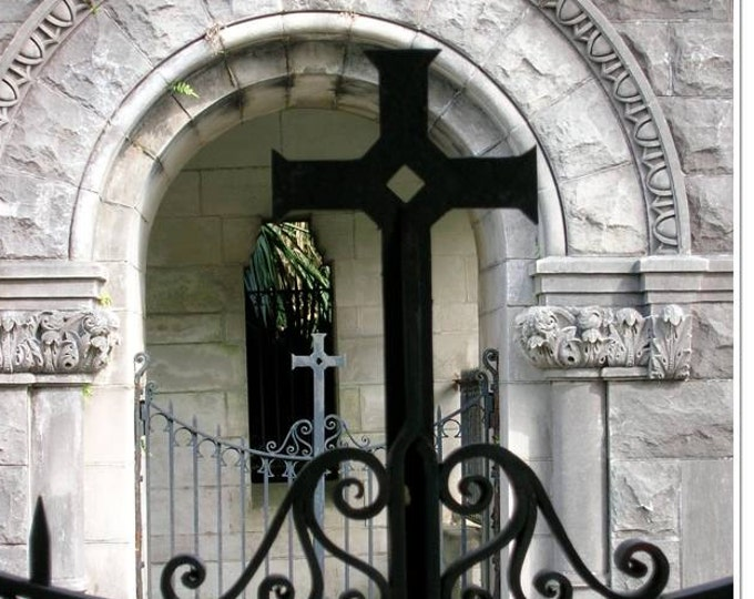 Cross Gate Photo - Southern Monastery Photo - Religious Decor - Church Gate Print - theRDBcollection - Renee Dent Blankenship
