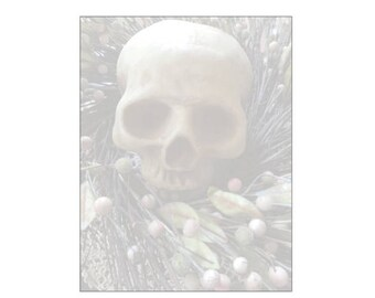 Skull in Wreath Note Pad