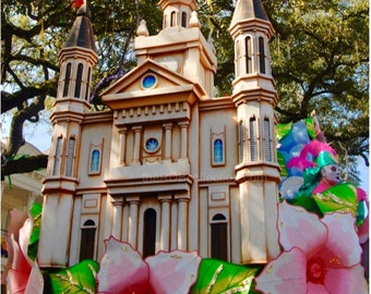 St. Louis Cathedral Photograph - Mardi Gras