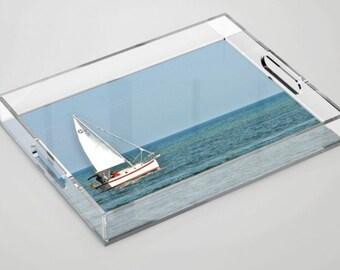Sailboat Acrylic Tray