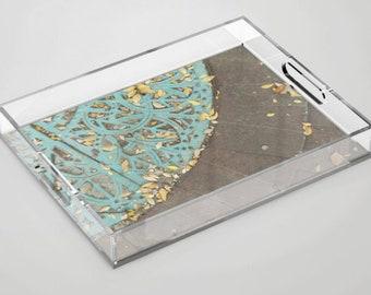 Iron Lace Acrylic Tray