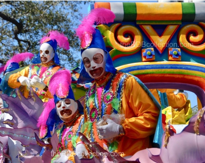 Fat Tuesday Carnival Riders Photograph