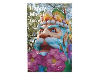 King of Carnival Greeting Cards - Mardi Gras