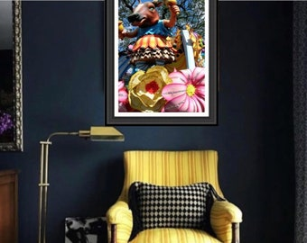 Cowbellion Photograph - Boeuf Gras Mardi Gras - Carnival Art - theRDBcollection - Renee Dent Blankenship