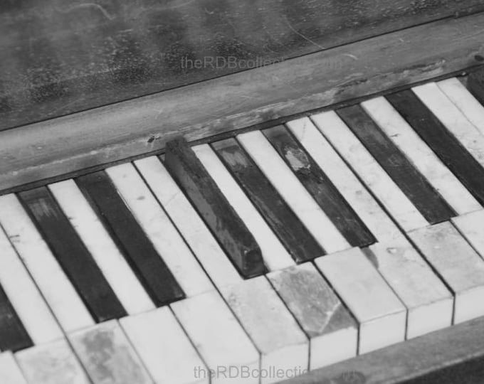 Aged Ivories Piano Photograph