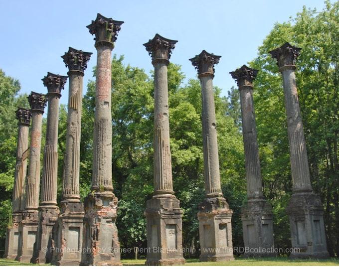 Windsor Ruins Photo - Historic Mississippi Home - Antebellum Mansion Columns- theRDBcollection - Renee Dent Blankenship