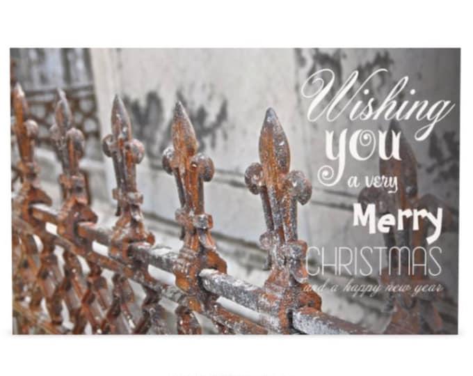 Fleur de Lys Christmas Greeting Cards