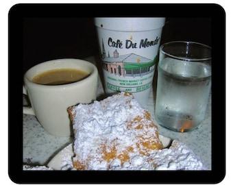 Cafe du Monde Beignets and Cafe au Lait MousePad