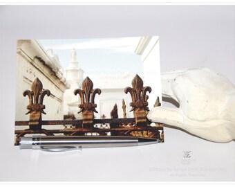Fleur de lis Postcards - New Orleans Ironwork - theRDBcollection