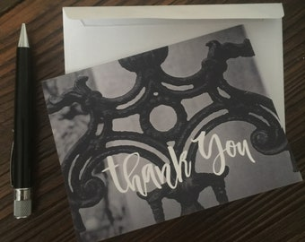 Thank You Ironwork Note Cards