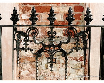 Fence Fragment Photograph - New Orleans Ironwork