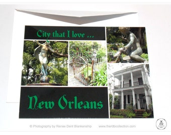 New Orleans Cards - City That I Love New Orleans - Garden District and Uptown