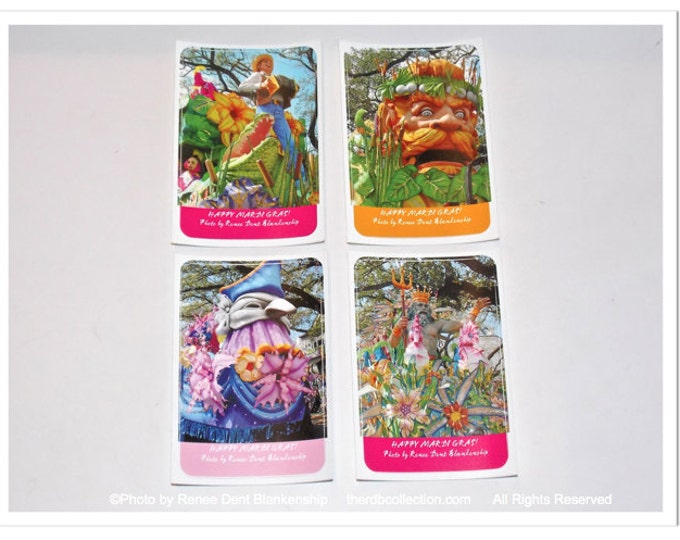 Mardi Gras Floats Stickers