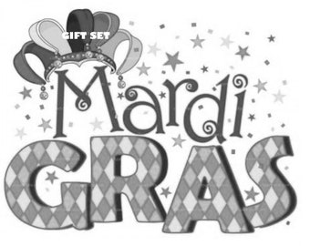 Mardi Gras Stationery Set