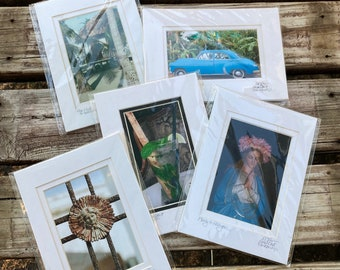 Matted and Signed Tiny Art - New Orleans Photos - Beach Photos