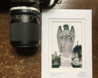 Angel Photo Matted and Signed Tiny Art