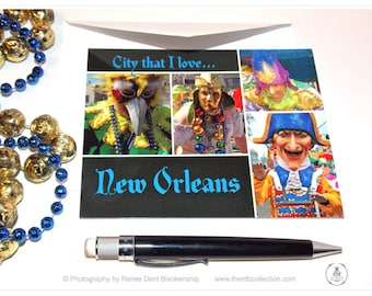 New Orleans Love Mardi Gras Cards