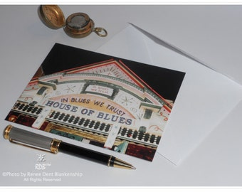 House of Blues Note Cards