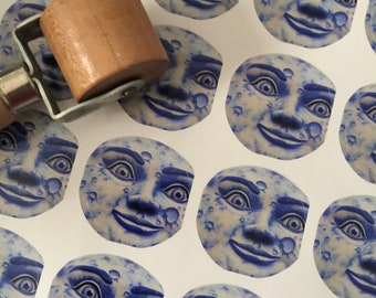 Blue Moon Stickers - Man in the Moon