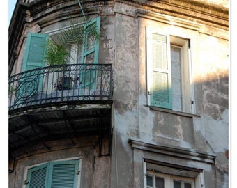 Historic French Quarter Building Photograph