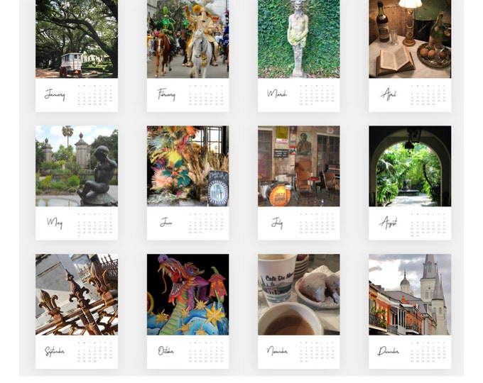 Featured listing image: 2020 New Orleans Card Calendar