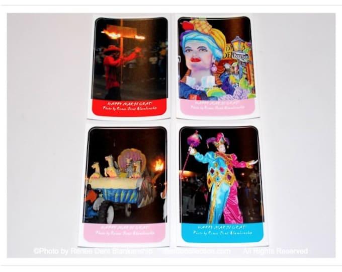 Mardi Gras Stickers - Flambeau Man, Mardi Gras King Float, Jester, Float Stickers